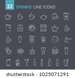 drinks  glasses and bottles  32 ... | Shutterstock .eps vector #1025071291