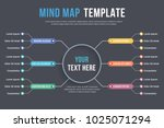 absrtact mind map template ... | Shutterstock .eps vector #1025071294