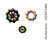 collection of gears with... | Shutterstock .eps vector #1025071885