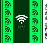 wifi free password concept... | Shutterstock .eps vector #1025071939