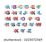 alphabet letters logo template... | Shutterstock .eps vector #1025072569