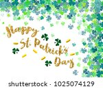 happy saint patrick's day... | Shutterstock .eps vector #1025074129