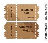 summer sale coupon design | Shutterstock .eps vector #1025075341