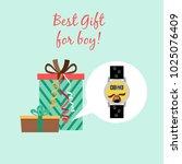 best gift for boy advertising... | Shutterstock .eps vector #1025076409