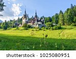 daylight side far view to peles ... | Shutterstock . vector #1025080951