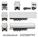 truck vector mock up. isolated... | Shutterstock .eps vector #1025089795