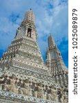 Small photo of wat aran temple of the aurora bangkok capital of tailandi indochina asia