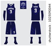 basketball uniform or sport... | Shutterstock .eps vector #1025090044