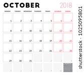 calendar planner for october... | Shutterstock .eps vector #1025095801