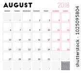 calendar planner for august... | Shutterstock .eps vector #1025095804