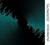 sound wave on dark background | Shutterstock .eps vector #1025096791