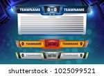 scoreboard broadcast graphic... | Shutterstock .eps vector #1025099521