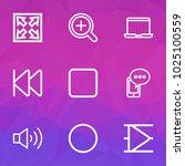 multimedia icons line style set ... | Shutterstock .eps vector #1025100559