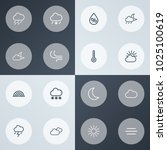 air icons line style set with... | Shutterstock .eps vector #1025100619