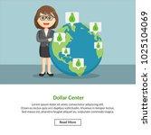 dollar center job information | Shutterstock .eps vector #1025104069