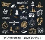 wanderlust hand lettering in... | Shutterstock .eps vector #1025104417