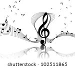 vector musical notes staff...   Shutterstock .eps vector #102511865