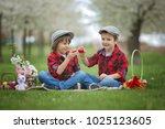 two children  boy brothers ...   Shutterstock . vector #1025123605