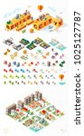 build your own city . set of... | Shutterstock .eps vector #1025127787
