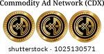 set of physical golden coin... | Shutterstock .eps vector #1025130571