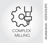 complex milling concept icon... | Shutterstock .eps vector #1025131291