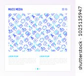 mass media concept with thin... | Shutterstock .eps vector #1025135947