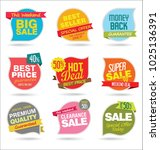 modern sale stickers and tags... | Shutterstock .eps vector #1025136391