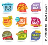 modern sale stickers and tags... | Shutterstock .eps vector #1025136394