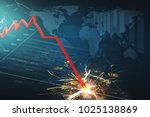 stock market crash | Shutterstock . vector #1025138869