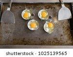 fried egg   egg cookingl in... | Shutterstock . vector #1025139565