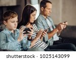 addicted users. pleasant little ... | Shutterstock . vector #1025143099