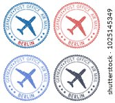 postal stamps with berlin title.... | Shutterstock . vector #1025145349