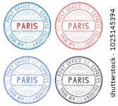colored postmarks paris.... | Shutterstock . vector #1025145394