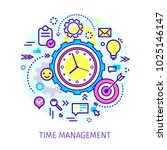 concept of time management.... | Shutterstock .eps vector #1025146147