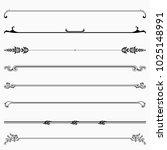 decorative dividers  set 49  | Shutterstock .eps vector #1025148991
