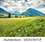 green summer view of triglav... | Shutterstock . vector #1025150719