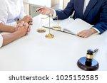 teamwork of business lawyer... | Shutterstock . vector #1025152585