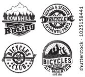 set of vintage bicycles club... | Shutterstock .eps vector #1025158441