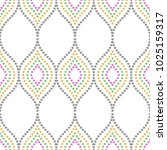 seamless vector dotted colorful ... | Shutterstock .eps vector #1025159317