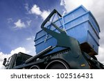 cargo container on a truck... | Shutterstock . vector #102516431