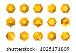 set of abstract colorful yellow ... | Shutterstock .eps vector #1025171809
