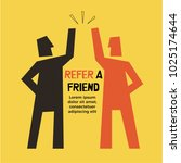 refer a friend abstract... | Shutterstock .eps vector #1025174644
