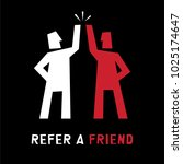 refer a friend abstract... | Shutterstock .eps vector #1025174647