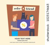 refer a friend abstract... | Shutterstock .eps vector #1025174665
