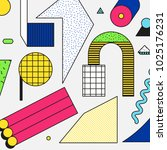 vector neo memphis composition... | Shutterstock .eps vector #1025176231