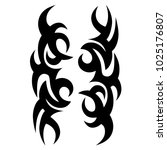 tribal pattern vector tattoo...   Shutterstock .eps vector #1025176807