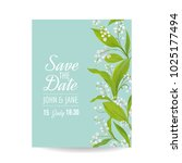 floral wedding invitation... | Shutterstock .eps vector #1025177494