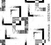 grunge halftone black and white ... | Shutterstock .eps vector #1025178004