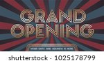 grand opening vector background.... | Shutterstock .eps vector #1025178799