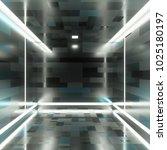 abstract simple metallic box... | Shutterstock . vector #1025180197